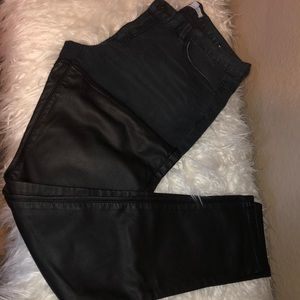 BCBG Generation Jasper Denim Leather Jeans Pants